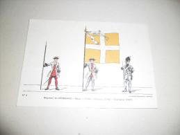 CPM Régiment De Normandie - Major - 1730 - Drapeau - 1745 - Grenadier - 1767, Imagerie Pellerin Epinal - Uniforms