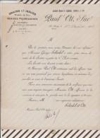 Facture / Courrier 1916 PAUL OTT LE LUDE GRAINES SCHUDEL - 1900 – 1949