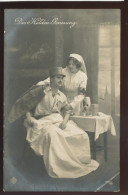 MILITARY WWI SOLDIER RED CROSS NURSE OLD POSTCARD #145 - Red Cross