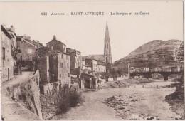 Carte Postale Ancienne,12,AVEYRON,SAINT AFFRIQUE,IL Y A 70 ANS,PRES MILLAU,MIDI PYRENEES,,EGLISE,SORGUE - Saint Affrique