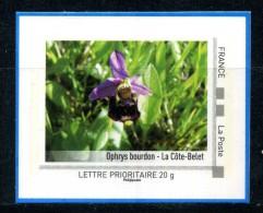 Curiosité Ophrys Bourdon - La Cote Belet  Adhésif Neuf ** . Collector Poitou - Charentes 2011 Non Dentelé Accidentel - France