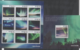 NEVIS, 2014, MNH, AURORA BOREALIS,  SHEETLET+ S/SHEET - Polar Philately