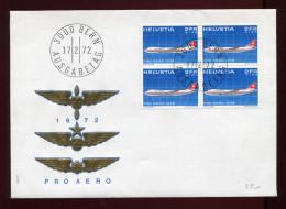 SCHWEIZ, SUISSE,  1972, PRO AERO, AIRCRAFT - FDC