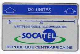 CENTRAFRIQUE REF MV CARDS CAR-06  120 U  N° 010D 4 000ex Année 1990 - Centraal-Afrikaanse Republiek