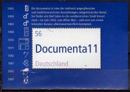 2002  Germany / BRD -Documenta 11 - Modern Art  Exhibition - 2002- MS - Paper - MNH** - Weltausstellung