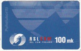 FINLAND - RSL Com prepaid card 100 mk, used