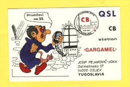 Postcard - QSL Radio Amateur Postcard, Gargamel, Osijek, Croatia      (17947) - Radio Amateur