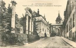 25 - BESANCON-les-BAINS - Square Castan - Porte Noire Et Cathédrale Saint-Jean - Besancon