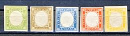 Napoli, Prov Napoletane 1861 Serie 1-5,  NON EMESSI, MNH, Molto Bella, Fresca C. 80 Firmato Biondi Cat € 300 - Naples