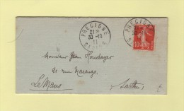 Precigne - Sarthe - 1911 - Marcophilie (Lettres)