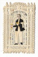 SOUVENIR DE 1 ère COMMNUNION  ( CANIVET 19ème Siècle : Decoupis Chromolithographié , Sur Mini-carte Dentellée Finement ) - Images Religieuses