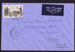 1947  Nancy 25 Francs Brun  Yv 778  Sur Lettre Avion Pour Les USA - Marcofilia (sobres)