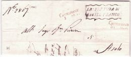 1848 - Lombardo-Venetie  - Lettre De CASTELFRANCO / 1    SET.+ L R° PRETURA - Italy