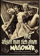 """Illustrierte Film-Bühne - """"Wie Angelt Man Sich Einen Millionär"""" -  Mit Marilyn Monroe  -  Programm Nr. 2287 Von Ca. 1953 - Magazines"""