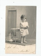 Cp , ENFANT , Dos Simple , Voyagée 1903 , Serie 1 , Ed : Clément & Tournier , Genéve - Kinder