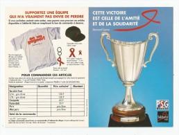 Carte 4 Volets  , Sport , Football , PSC , Cette Victoire Est Celle De L'amitié Et De La Solidarité , Bernard LAMA - Calcio