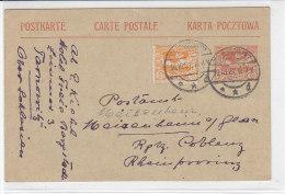 Ganzsache Aus TARNOWITZ 19.10.21 Nach Meisenheim - 1920-35 Société Des Nations