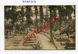 WERVIK-Cimetiere Allemand-46 R.D.-Carte Photo Allemande-Guerre-14-18-1WK-BELGIQUE-BELGIEN-Flandern- - Wervik