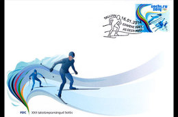 ESTONIA 2014 FDC XXII WINTER OLYMPIC GAMES SOCHI - Inverno 2014: Sotchi
