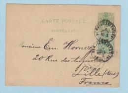 BELGIQUE  // Entier Postal  //  De Verviers  //  Pour Lille  //  3 Juin 1885 - Cartoline [1871-09]
