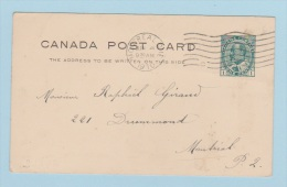 CANADA       // Entier Postal  //  Montreal   //  Pour Montreal  //  4 Juin 1910 - 1903-1954 Rois