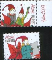 Aland 2009 Christmas Julpost  Natale Noel 2v Complete Set ** MNH - Aland