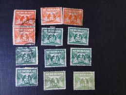 Pays-Bas 1891- 1909 Lot De 12 Timbres Usagés Wilhelmine  Y/T N° 135, 135a, 136..... - Oblitérés