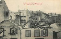 SAINT DIE RUE DE FOUCHARUPT GUERRE 14/18 - Saint Die