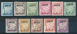 """GABON  1928   MH   -  """" TIMBRES - TAXE """"  - 11 Val. - Gabon (1886-1936)"""