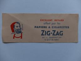 BUVARD - PAPIERS A CIGARETTES - ZIG ZAG - ZOUAVE - IMPRESSION ROUGE ET BLEU - Tobacco