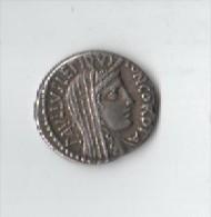 DENIER D ARGENT.TETE DE LA CONCORDE.PAULUS .GENERAL ROMAIN AVEC SES 2 FILS A EMILIA - Roman