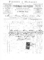 PIERRES & MARBRES   THOMAS - BEVIERE   à  LE - CATEAU   (NORD)    1894 - France