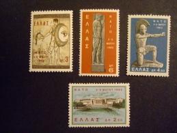 GREECE   1962  MICHEL  792/95  RARE   WMK INVERTED   MNH **      (IS39-nvt) - Greece
