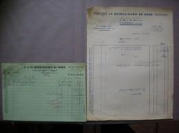 CAMBRAI NORD LA QUINCAILLERIE DU NORD 2 MAIL SAINT MARTIN FACTURE DU 25/7/49 - France
