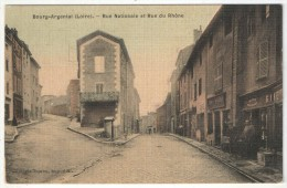 42 - BOURG-ARGENTAL - Rue Nationale Et Rue Du Rhône - Edition Touron - Bourg Argental