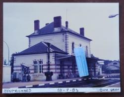 3 Photos - Gare De MONTRICHARD (gare Abri Et Quais) - Trains