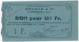 1914 // CORNIMONT // Un Franc - Bons & Nécessité