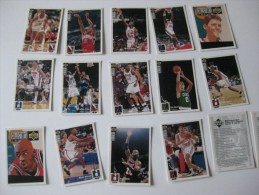 14 Cartes Basket UPPER D-E-C-K, NBA Collector´s Choice, Séries 2-94-95 - Other Collections
