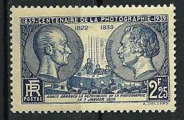 """FR YT 427 """" Centenaire De La Photographie """" 1939 Neuf* - Neufs"""
