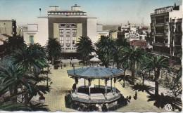 Algérie  SIDI-BEL-ABES  La Place Carnot Et Le Théatre - Sidi-bel-Abbès