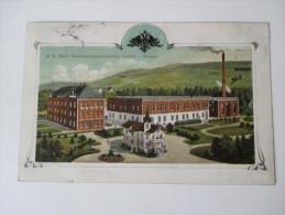 AK 1910 Österreich / Tschechien / Sudeten. A.K. Hüttl, Musikinstrumenten-Fabrik Graslitz I. Böhmen. Seltene Karte!! - Sudeten