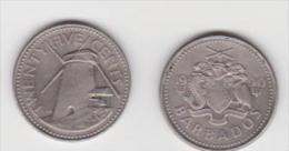 BARBADOS 25 CENTS 1990 - Barbados