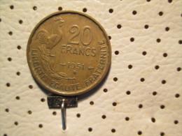 FRANCE 20 Francs 1951 B - France