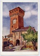 Formigine (Modena). Torrione E Rocchetta Del Castello (Acquarello Di A. Salvarani). - Modena