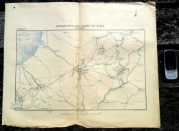 OPERATIONS DE L ARMEE DU NORD 1870 GRAVURE AMIENS ROUEN ST-QUENTIN ARRAS BEAUVAIS COMBAT BATAILLE PLAN MILITAIRE    R192 - Documents