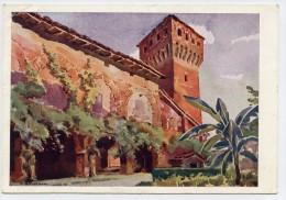 Formigine (Modena). Il Castello, Lato Interno (Acquarello Di A. Salvarani). - Modena
