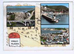 22b94CpmERQUY - PLAGES Multivues , 1965 , Carte Photo   , Camping De Caroual , Port , Vue Générale - Erquy