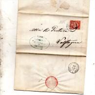 1875 LETTERA CON ANNULLO BASSANO + Carpanè San Nazario VICENZA - Steuermarken