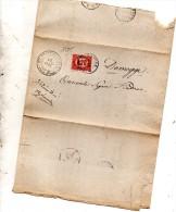1875 LETTERA CON ANNULLO PIEVE DI CADORE BELLUNO - Steuermarken