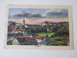 AK / Künstlerkarte 1920 Krummau. Panoramaansicht. Großverlag Ed. Zenker, Budweis - Sudeten